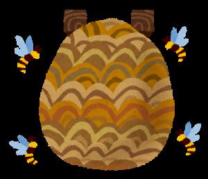 ハチの巣 イラスト-300x258